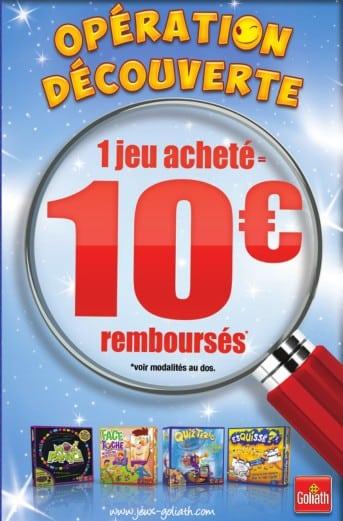 Offre remboursement 10 euros Goliath 2014