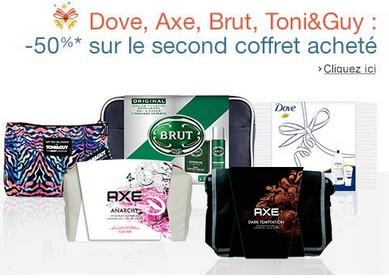 Offre spéciale sur les coffrets Axe Dove et Brut