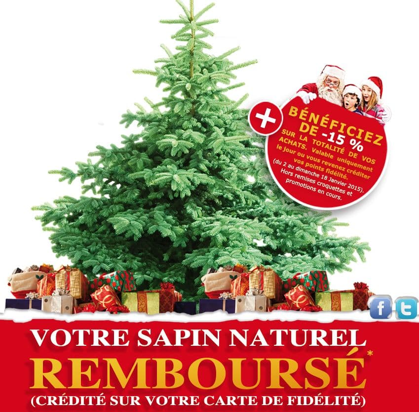 sapin de noel naturel promo. Black Bedroom Furniture Sets. Home Design Ideas