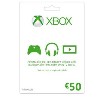 Soldes carte cadeau Xbox