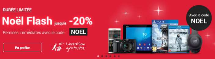 Vente flash Noel FNAC