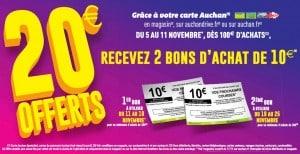 bons d'achat Auchan 20 euros