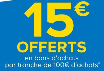 15 euros offerts tous les 100 euros d achats castorama 2