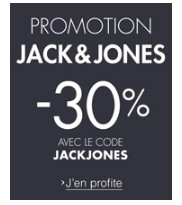 code promo jack jones 30 de remise sans minimum d achat. Black Bedroom Furniture Sets. Home Design Ideas