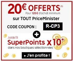 code promo du 12 novembre sur Priceminister