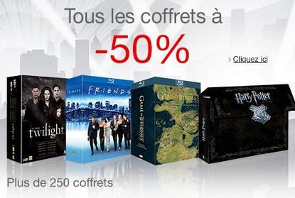 coffrets Blu-ray / DVD à moitié prix
