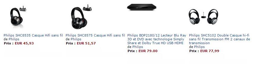 Lecteur Blu-Ray 3D et DVD Philips ou casques sans fils Philips