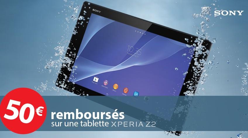 offre de remboursement tablette etanche Xperia Z2 16 GO