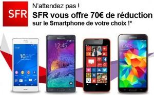 remise sur l'achat d'un smartphone avec forfait SFR