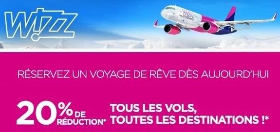 remises vols Wizz Air