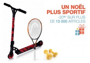 sport loisirs remise Noel Amazon