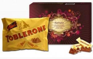 une boite personnalisable de chocolat Toblerone pas cher
