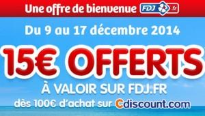 15 euros offerts sur FDJ