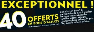 40 euros offerts Conforama