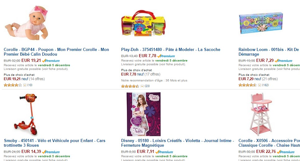 40 pourcent sur 400 jouets sur Amazon