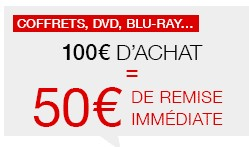 50 euros de remises immediates blu-ray dvd
