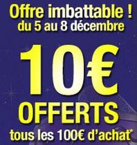 Auchan 10 euros tous les 100 euros