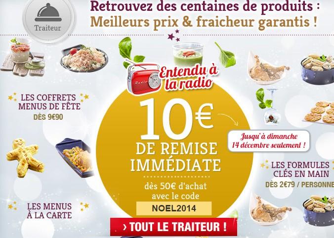 repas de noel auchan 2018 Spécial repas de fêtes : 10 euros de remise pour 50 euros d'achat  repas de noel auchan 2018