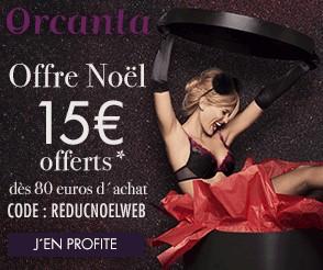 Bon plan Lingerie 15 euros offerts dès 80 euros Orcanta