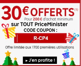 Code promo Priceminister 30 euros