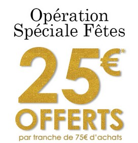 La City 25 euros offerts tous les 75 euros