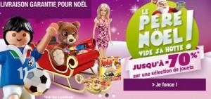 Le Pére Noel vide sa Hotte sur Auchan