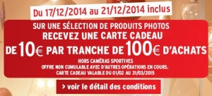 Nouvelle offre 10 euros par tranche 100 euros photo DARTY
