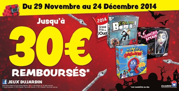 Offre remboursement jeux Dujardin Decembre 2014