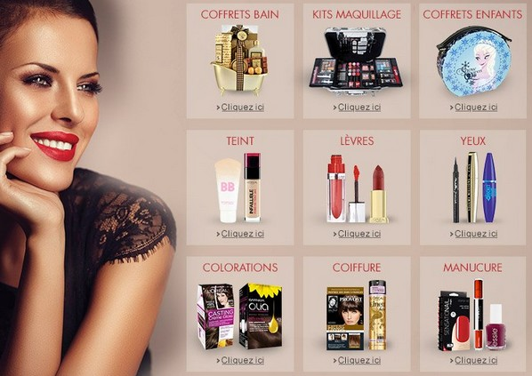 coffrets et produits de beauté