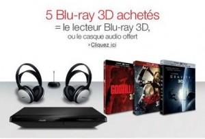 lecteur Blu-ray 3D ou le casque sans fil offert