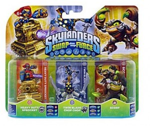 3 figurines Skylanders Swap Force