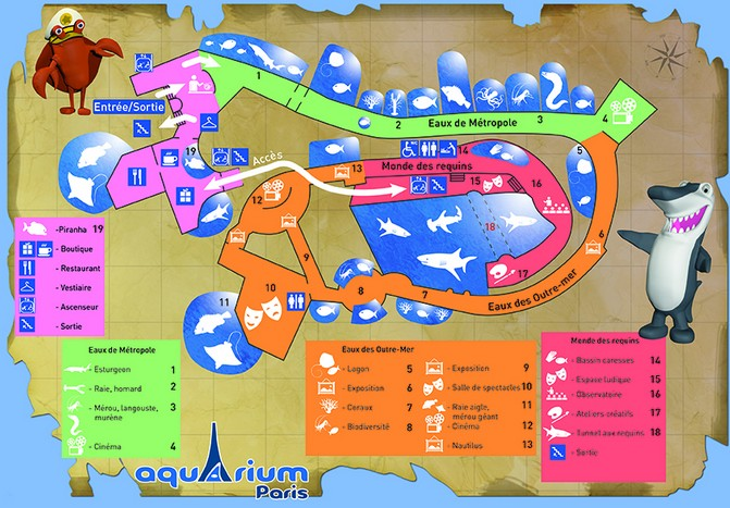 Aquarium de Paris plan