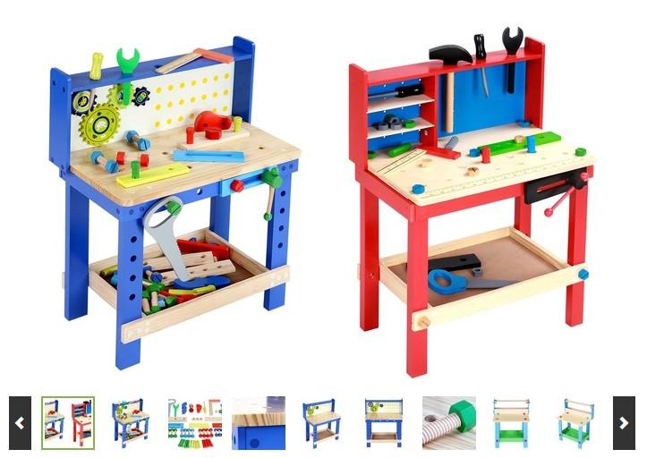 moins de 38 euros l tabli en bois enfant avec accessoires. Black Bedroom Furniture Sets. Home Design Ideas