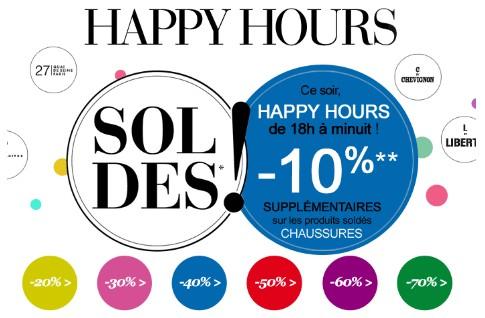 Happy Hours Soldes La Halle
