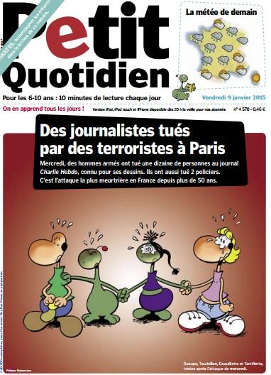 Le Petit Quotidien attentat de Charlie Hebdo explique aux enfants