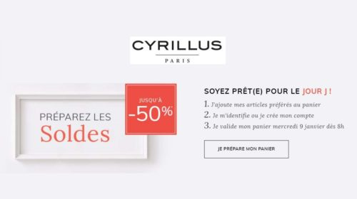 Préparez les soldes Cyrillus