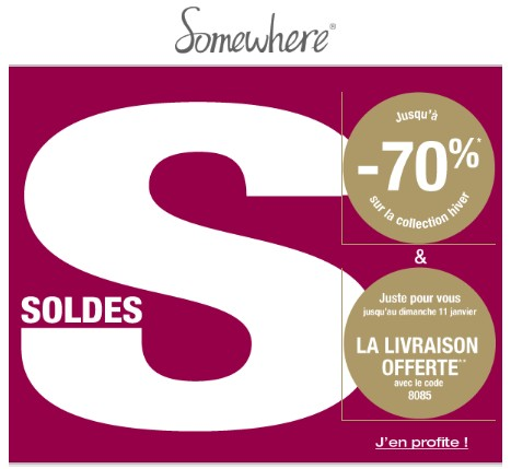 Soldes Somewhere hiver 2015