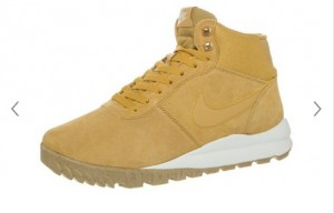 baskets montantes Nike sport cuir homme