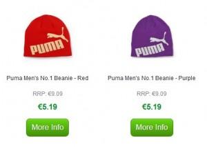 bonnet Puma à 5,19 euros