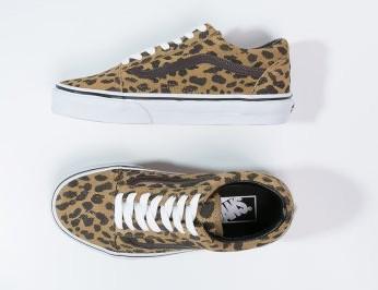 chaussures Vans OLD SKOOL cuir en soldes