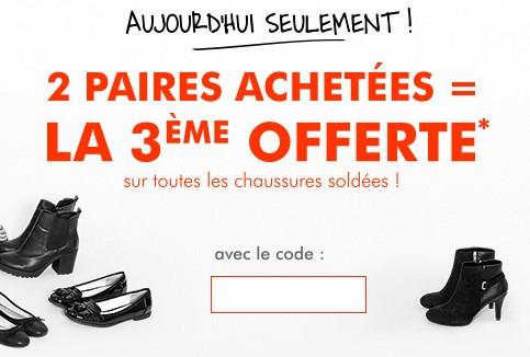 acheter populaire service durable fréquent Soldes chaussures Gémo : 2 paires achetées = la 3éme ...