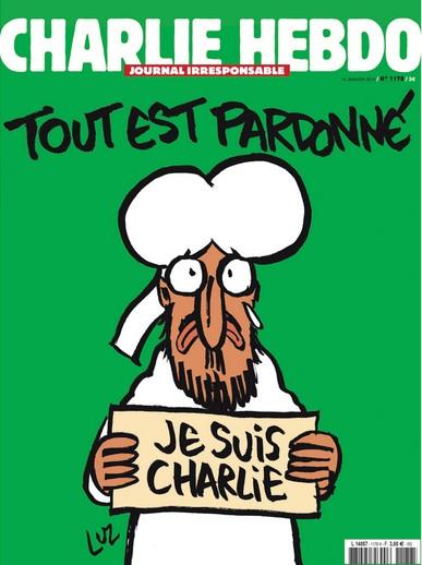 couverture numero Charlie Hebdo mercredi 14 janvier
