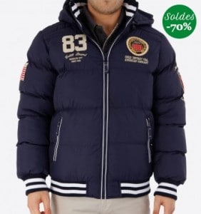doudoune Geographical Norway homme en soldes