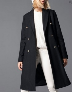 manteau long Stradivarius en soldes