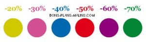 pastilles couleurs des Soldes La Halle Hiver 2015
