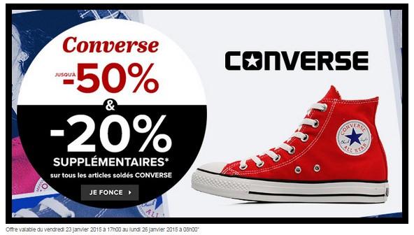 d153596567c8d 20% supplémentaire sur les Converse en soldes (Sarenza)   livraison ...