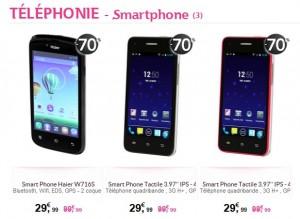 smartphones en soldes chez Tati
