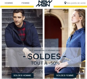 soldes New Man hiver 2015