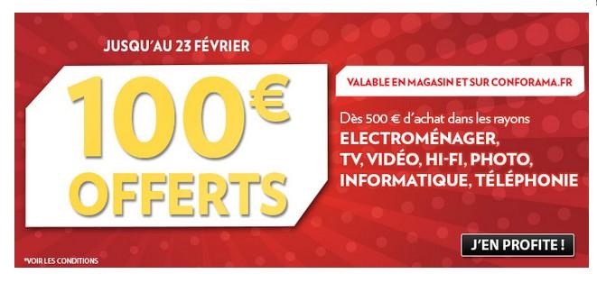 black friday conforama 100 euros offerts pour 500 euros d achats en 1 bon d achat. Black Bedroom Furniture Sets. Home Design Ideas