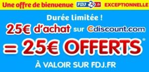 25 euros offerts sur Française des jeux